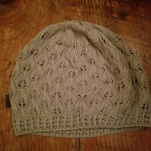 Accessories - Loose Knit Grey Beanie
